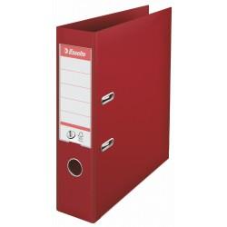 Biblioraft ESSELTE No. 1 Power, A4, plastifiat PP/PP, margine metalica, 75 mm - visiniu