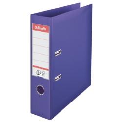 Biblioraft ESSELTE No. 1 Power, A4, plastifiat PP/PP, margine metalica, 75 mm - mov