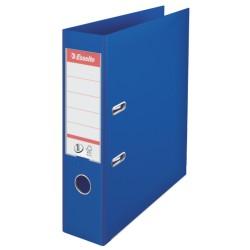 Biblioraft ESSELTE No. 1 Power, A4, plastifiat PP/PP, margine metalica, 75 mm - albastru