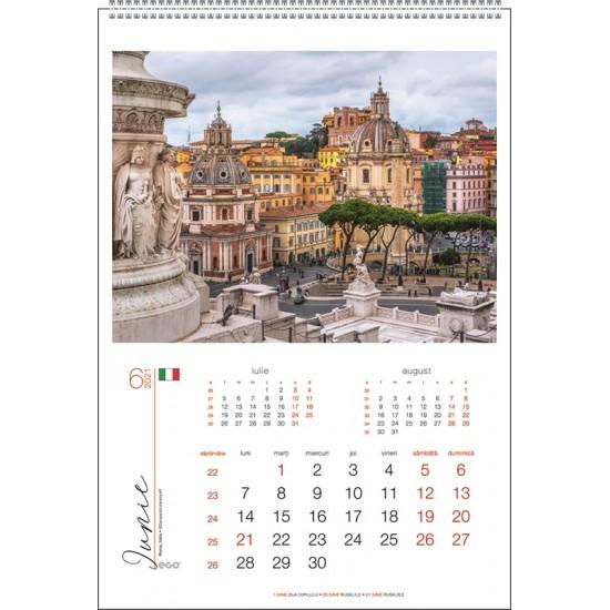 Calendar de perete Orasele Lumii 2021