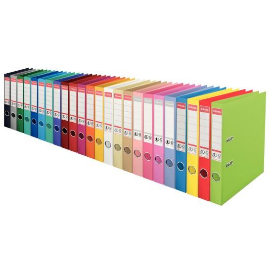 Biblioraft ESSELTE No. 1 Power, A4, plastifiat PP-PP, 50 mm, diverse culori