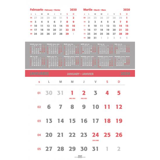 Calendar de perete triptic special 2020