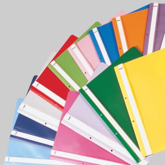 Dosar din plastic, cu sina si perforatii, NOKI, diverse culori