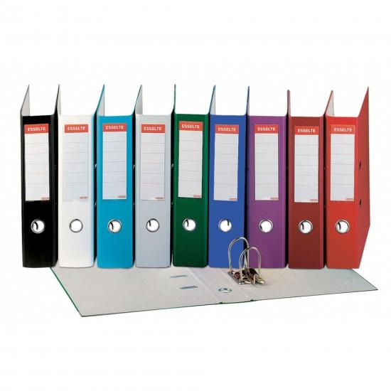 Biblioraft Esselte Economy, 75 mm, Diverse culori