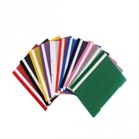 Dosar din plastic, cu sina si perforatii, EXXO, diverse culori