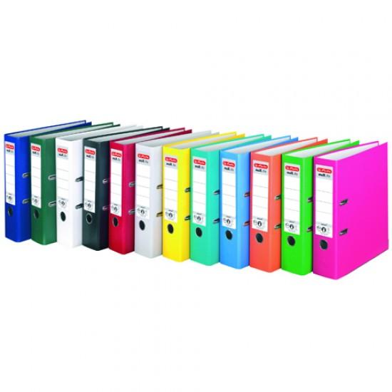 Biblioraft plastifiat, 8 cm, Herlitz, diverse culori