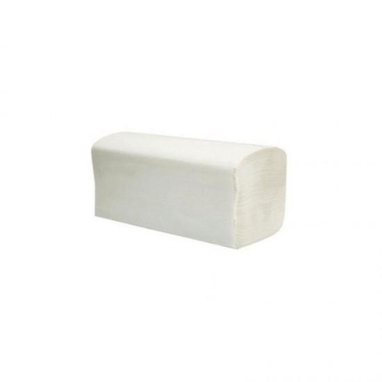 Hartie pentru dispenser Z fold Neve Profesional, alba, 2 straturi, celuloza, 200 bucati / set