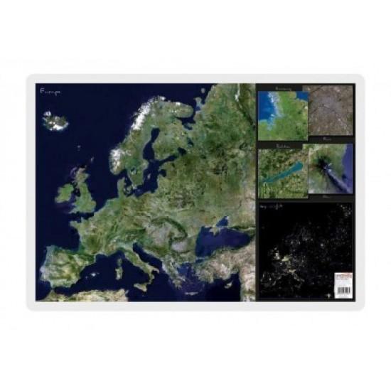 Mapa De Birou 70 X 50cm Harta Europei Vedere Din Satelit Stiefel