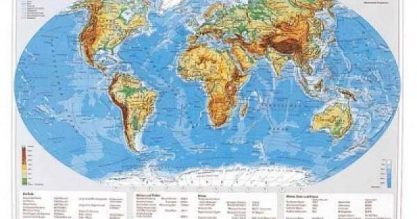 Mapa De Birou 70 X 50cm Harta Lumii Statele Stiefel