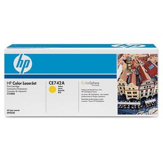 CARTUS TONER YELLOW CE742A 7,3K ORIGINAL HP LASERJET CP5220