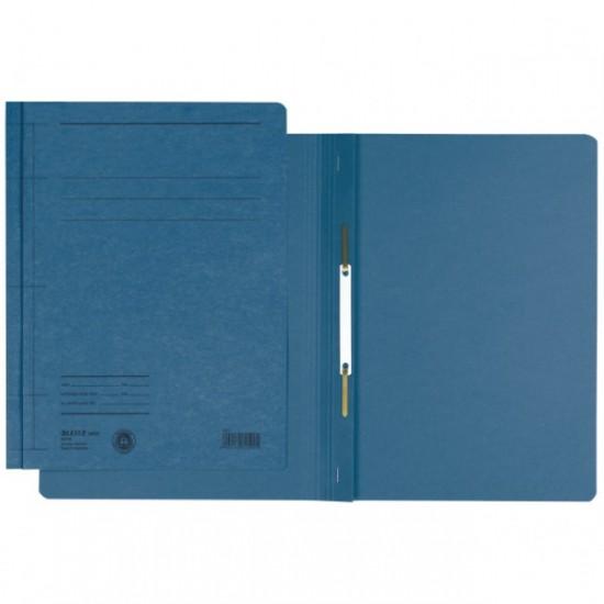 Dosar din carton, cu sina, 250 g/mp,  LEITZ, albastru
