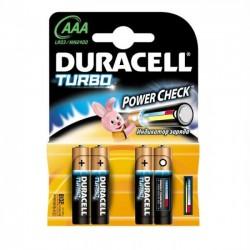 Baterii AAA, alcaline, 4 bucati, DURACELL Turbo