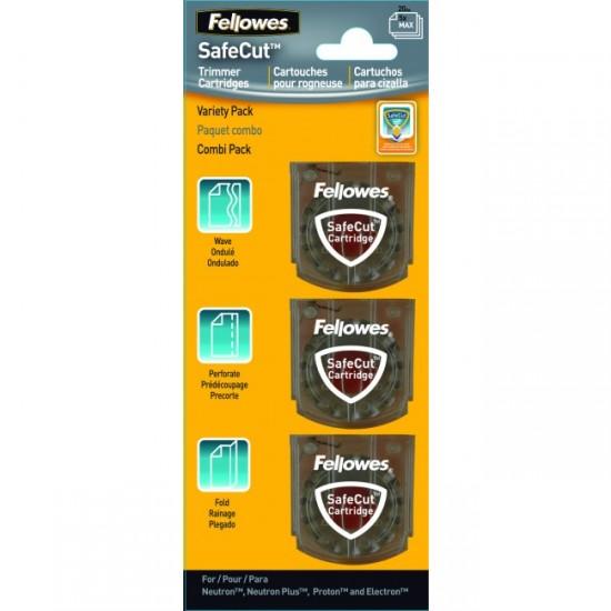 Lame pentru trimmere, 3 tipuri-set, FELLOWES SafeCut Cartridges