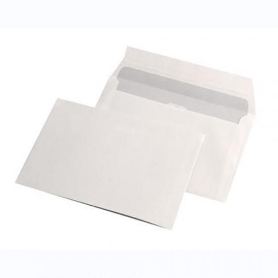 Plic C6, dimensiuni 114 x 162mm, siliconic, alb, gramaj 80 g/mp