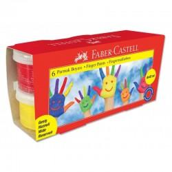 Set Pictura Cu Degetele 6 Culori 45ml Faber-Castell
