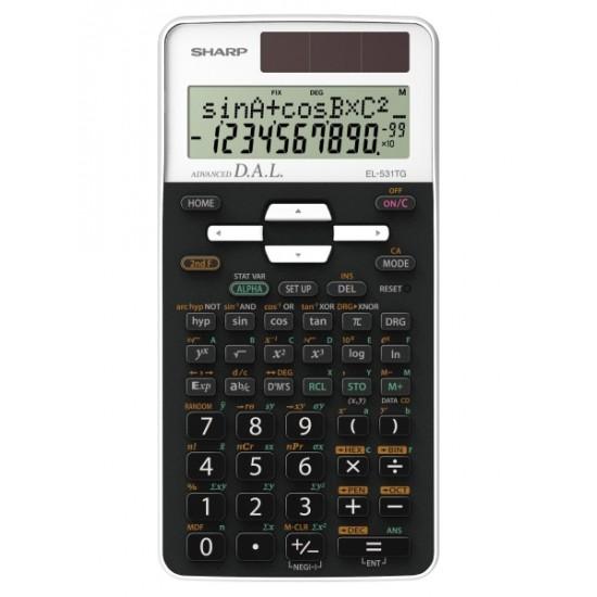 Calculator stiintific, 10 digits, 273 functiuni, 161 x 80 x 15 mm, SHARP EL-531THBWH - negru/alb