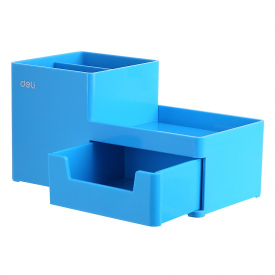Suport Birou 3 Compartimente si Sertar Bleu Deli